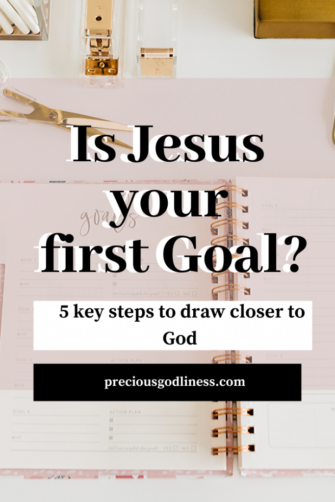 Is Jesus your first Goal